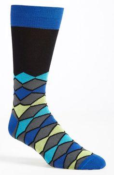 Lorenzo Uomo Diamond Socks available at #Nordstrom