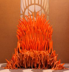 Reddit user wallacemk built an Iron Throne out of carrots — for a rabbit named Wallace.