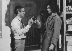 François Truffaut & Fanny Ardant during the filming of Vivement Dimanche! (1983)