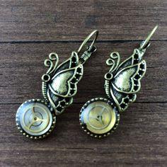 Steampunk Earrings Watch Earrings Watch Parts by NestreJewellery