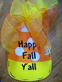 Happy Fall Yall by polkadotsandpigtales on Etsy Holidays Halloween, Halloween Crafts, Halloween Ideas, Preschool Rules, Burlap Crafts, Kid Parties, Happy Fall Y'all, Holiday Time, Autumn Theme