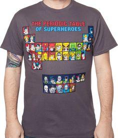 Periodic Table of Superheroes Shirt