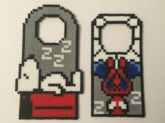 Spiderman or Snoopy Door Hanger Sold Individually by PixelPrecious