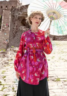 """""""Xiang"""" cotton satin long shirt – Wardrobe Essentials Spring 2015 – GUDRUN SJÖDÉN – Webshop, mail order and boutiques 