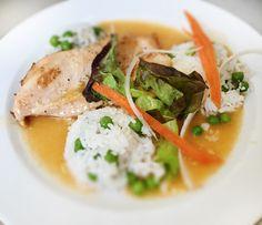 Denné menu Vranov | Marinované kuracie rezne v zázvorovo-pivnej marináde, hrášková ryža - reštaurácia Hotel Patriot*** #hotel #restaurant