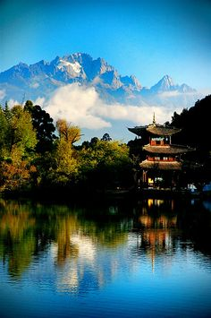 Li Jiang City, China   Madeline spent a summer here..