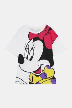 ZARA - Female - Disney minnie mouse© t-shirt - White - Minnie Mouse, Disney Mickey Mouse, Disney Shirts, Disney Clothes, Zara, Design Girl, Going Home, Looney Tunes, Baby Wearing