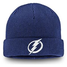 newest collection c39a8 49fbc Men s Tampa Bay Lightning Fanatics Branded Blue Waffle Cuffed Knit Hat,  Your Price   21.99