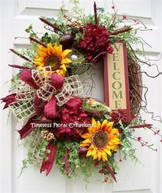 TIMELESS FLORAL CREATIONS - SUMMER WREATHS http://www.timelessfloralcreations.com