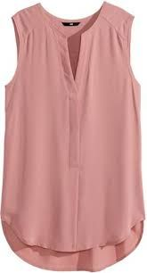 Sleeveless V-neck blouse in woven fabric. Concealed buttons at front, raw edges at neckline and armholes, and rounded hem. Slightly longer at H&M Sleeveless Blouse - Dusty rose - Ladies - ShopStyle Button Front for my stylist - Dusty rose sleeveless blou Casual Outfits, Cute Outfits, Fashion Outfits, Womens Fashion, Dress Casual, Dress Outfits, Mode Glamour, Sleeveless Blouse, Chiffon Shirt