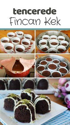 Tencerede Fincan Kek (videolu) Tarifi nasıl yapılır? 13.584 kişinin defterindeki bu tarifin resimli anlatımı ve deneyenlerin fotoğrafları burada. Yazar: Mine Yalcin Budak Cupcakes, Cupcake Cakes, Food N, Food And Drink, Milk Bread Recipe, Cake Recipes, Dessert Recipes, Wie Macht Man, Food Platters