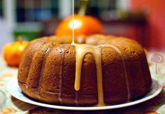 Pumpkin Pound Cake with an Apple Cider Drizzle * Slim Pickin's Kitchen