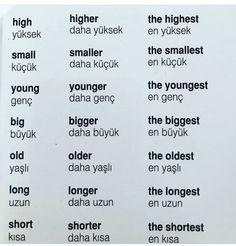 Learn Turkish Language, Arabic Language, Learn A New Language, English Vocabulary Words, Learn English Words, English Lessons, English Language Learning, Language Lessons, Learning Spanish