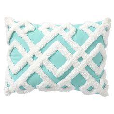 Aqua Geo Plush Pillows