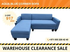 A stylish design that also offers great comfort, the Aqua corner sofa is the perfect addition to Your living room. It features high-quality blue polyester fabric upholstery and foam to ensure comfort and durability. Can be placed in both right and left configurations – choose how it works best with Your living room design. Local pickup only! For more details contact: +971 55 228 4240