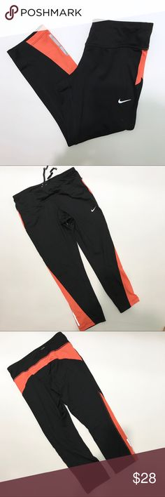 Nike Running Dri-fit Black Coral Leggings Tights Nike Running Dri-fit Black Coral Leggings Tights. Reflective. Like new. Never worn. Please let me know if you have any questions. Nike Pants Leggings
