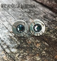 Country Gifts For Her // Smith and Wesson  // Bullet Earring Studs // 40 Caliber Ammo // Pistol Shell Casing // Western Style Jewelry by WhiskeyDeltaCo on Etsy https://www.etsy.com/listing/483748298/country-gifts-for-her-smith-and-wesson