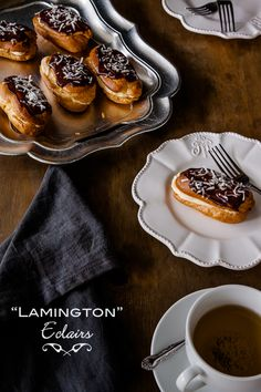 Lamington Eclairs recipe | DeliciousEveryday.com www.tilemaryland.com