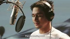 """This is the handsome Piolo Pascual singing his part during the recording of the ABS-CBN 2016 Summer Station ID and Halalan 2016 Station ID, """"Ipanalo ang Pamilyang Pilipino!"""" with Ebe Dancel, Sarah Geronimo, Elmo Magalona, and the singers from ASAP. Indeed, Piolo is another of my favourite Kapamilyas, and he's an amazing Star Magic talent. #PioloPascual #Halalan2016 #IpanaloangPamilyangPilipino Born Again Christian, Abs, Star Magic, Geronimo, Elmo, Singers, Summer, Handsome, Teen"""
