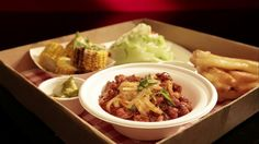 Chilli Con Carne with Blackened Corn and Iceberg Wedge Salad