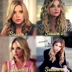 Pretty Little Liars-- Hannah through the seasons. I loved her shorter hair in season 3.