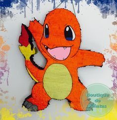 Charmander • Pokemon   • Piñata  • envíos a todo México $580 • 2-3 elaboración y 5-7 días hábiles de envío. Birthday Pinata, Pokemon Birthday, 5th Birthday, Birthday Parties, Charmander Pokemon, Pikachu, Pokemon Photo, Tigger, Projects To Try