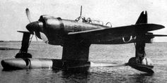Norm E15K Shiun aircraft at rest on water, date unknown ... , the main float often failed to separate from the plane, which resulted in the plane being easily caught and downed by allied fighters.
