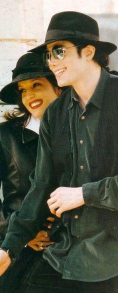Michael Jackson and Lisa Marie Presley - Happier times