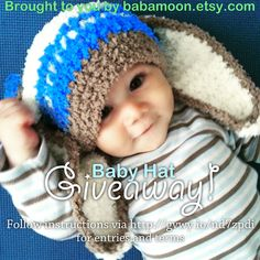 #Baby #Hat #Giveaway!  To celebrate reaching 5500 sales over the weekend I am hosting #Babamoon's 2nd Giveaway! Entrants will have the opportunity to #win a Baby Hat of their choice!  From 12am ET 15 Sept-22 Sept my giveaway will become LIVE so get ready to submit your entries via the giveaway link and follow the instructions and terms :)  Good Luck!    Although not required for entry, sharing is caring :)  http://gvwy.io/nd7zpdi