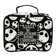 Your lunch bag for next year? Tim Burton's The Nightmare Before Christmas Lunch Tote Christmas Lunch, Christmas Love, Christmas Holidays, Jack Skellington, Nightmare Before Christmas Decorations, Holiday Decorations, Jack The Pumpkin King, Emo, Jack And Sally