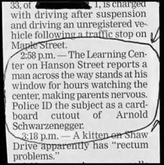 Funny police report