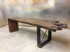 Modern Rustic Bench Handcrafted from Wood by MetalTreeFurniture, $499.00