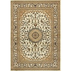 Ardebil Oriental Ivory Area Rug (5' 3 x 7' 3)   Overstock™ Shopping - Great Deals on 5x8 - 6x9 Rugs