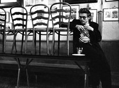 James Dean in Jerry's Bar on West Fifty Fourth Street. by Dennis Stock, 1955.