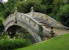 The Chinese Bridge at Wrest Park, Silsoe, Bedfordshire, England, UK