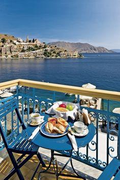 Breakfast with a view - Symi, Greece