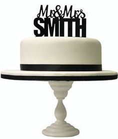 Picture of Personalised GlamourStyle Surname Cake Topper