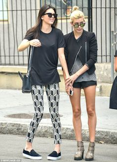 Kendall Jenner steps out with BFF Hailey Baldwin #dailymail
