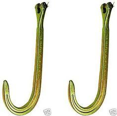 "Set of Two, BA Products N711-2CL-x2 16"" Clevis J Hook for Chain, Wrecker, Tow Truck, Rollback. For product info go to:  https://www.caraccessoriesonlinemarket.com/set-of-two-ba-products-n711-2cl-x2-16-clevis-j-hook-for-chain-wrecker-tow-truck-rollback/"
