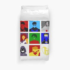 All of your favorite sidekicks and teenage superheroes, together on our favorite team.. the Teen Titans!! / This is protected under the fair use act as a piece of parody!!! • Also buy this artwork on home decor, apparel, stickers, and more.