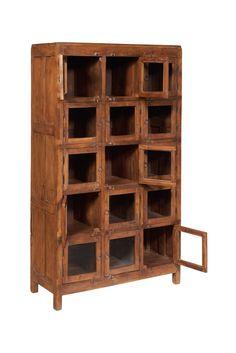 Vetrina 15 sportelli in Legno di Recupero Bookcase, Shelves, Vintage, Home Decor, Shelving, Decoration Home, Room Decor, Book Shelves, Shelving Units