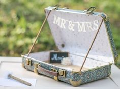 Save your deco valise mariage