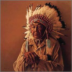 James Bama - Old Arapaho Story-Teller