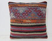 throw pillow cover 18x18 sofa cushion kilim pillow burgundy decorative pillow red throw pillow red chevron pillow country decor pillow 28927