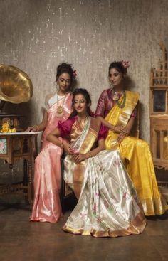 presents परंपरागत- paramparaagat, the celebration of our tradition and the essence of our rich culture. Kanjivaram Sarees, Kanchipuram Saree, Khadi Saree, South Indian Sarees, Indian Silk Sarees, Saree Hairstyles, Saree Poses, Bridal Silk Saree, Sari Blouse Designs