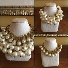 Doubled pearl necklaces on BrendaKinsel.com