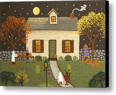 Time For Pumpkins Canvas Print / Canvas Art By Mary Charles