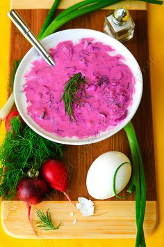 Cold Beet Soup with Kefir, Cucumbers, Dill and Egg — Common Latvian soup, especially in the summer!