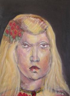 "Saatchi Art Artist Jack Michael Weinblatt; Painting, ""girl with fair hair"" #art"