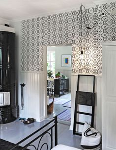 Black & White. Karkkila, Finland. Nordic Living, Wall Wallpaper, Finland, Paint Colors, Sweet Home, Walls, Colours, Black And White, Dress
